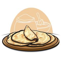 Pita bread vector