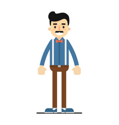 positive standing man in shirt and pants vector image