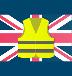 Protest yellow vests in the capital of england vector