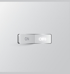 realistic switch off vector image