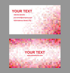 Red mosaic business card template design vector