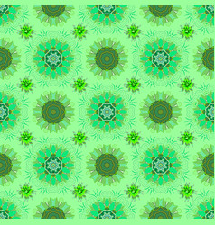 Seamless pattern with green blue and black vector