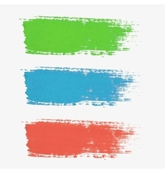Set of colored paint-splatter The color vector
