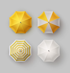 Set of striped rain umbrella parasol sunshade vector