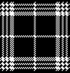 Simple dark fabric check black white seamless vector