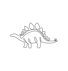 single continuous line drawing thorny tail vector image