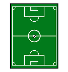 soccer field with a ball vector image