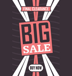 Social media big sale banner vector