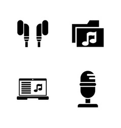 sound recording simple related icons vector image