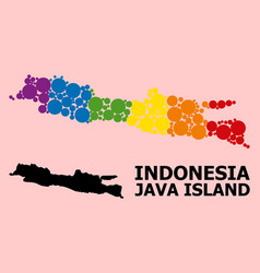 Spectrum mosaic map java island for lgbt vector