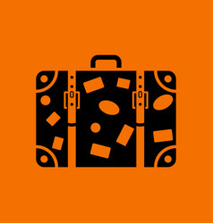 suitcase icon vector image