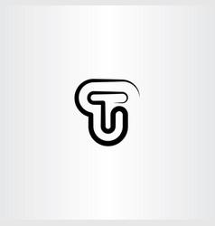 t line letter black logo symbol sign vector image