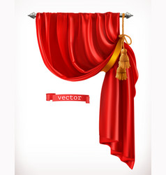 theater red curtain 3d realistic vector image