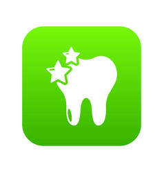 tooth icon green vector image