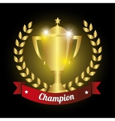 Trophy championship winner vector