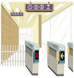 Underground Train Station vector image