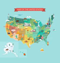 usa tourist map vector image