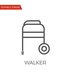 walker icon vector image