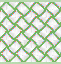White paper envelope seamless pattern vector