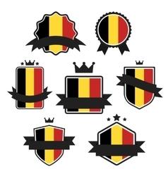 world flags series flag belgium vector image