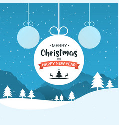 Xmas ball background holiday card vector