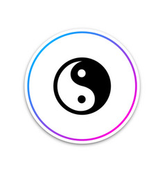 Yin yang symbol of harmony and balance icon vector