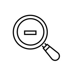 Zoom out - line design single isolated icon vector