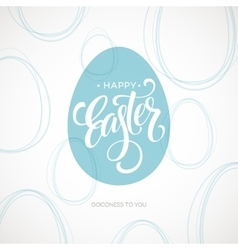Happy Easter Egg Lettering Poster vector image vector image