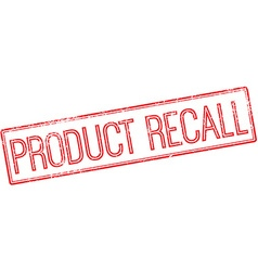 Product recall red rubber stamp on white vector image vector image