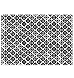 Black and White of Thai Vintage Wallpaper Pattern vector image vector image