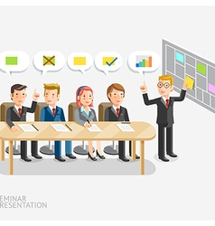Business meeting with speech bubble template vector image