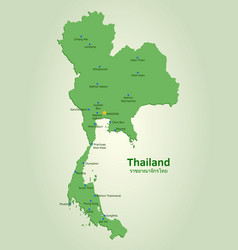 flat map of thailand vector image