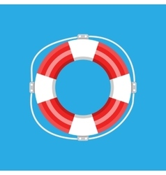 Lifebuoy isolated vector image