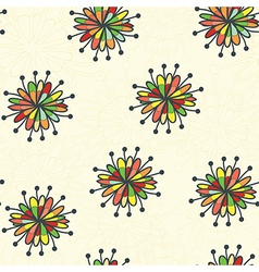 color flower and neutral beige background vector image