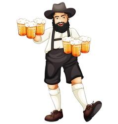 Man Celebrating Oktoberfest vector image
