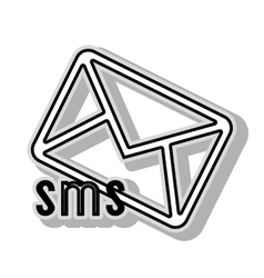 SMS message icon icon graphic vector image