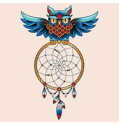 tattoo dream owl vector image vector image
