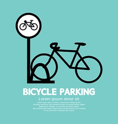 Bicycle Parking Sign vector image
