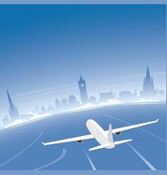edinburgh skyline flight destination vector image