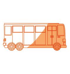 Isolated big bus car vector