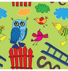 seamless birds print vector image vector image
