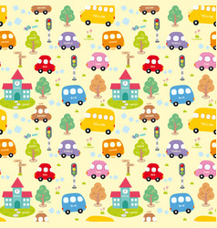 seamless pattern city vector image