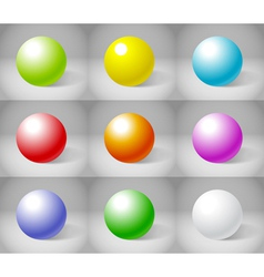 Shiny Spheres vector image