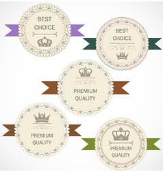 Vintage labels collection vector image