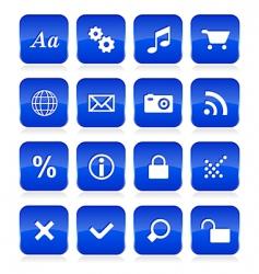 web button set vector image vector image