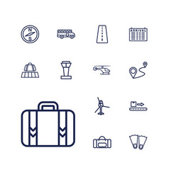 13 trip icons vector