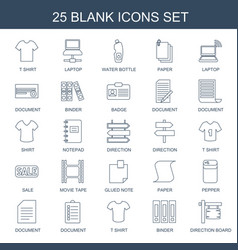 25 blank icons vector