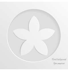 Abstract background with white flower vector image