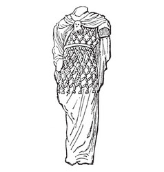 Agrenon was woolen garment worn by bachanals vector