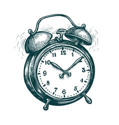 Alarm clock is ringing wake-up call reminder vector